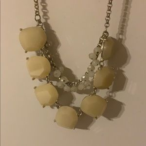 Loft white cream jeweled necklace